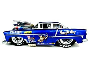 """1/18 MUSCLE MACHINES """"ONE OFF"""" """" 1955 CHEVY BELAIR  CUSTOM PRO-MOD."""