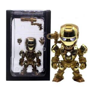 Iron Man War Machine Gold Edition Ironman Toy Action Figure w/Sound LED Light