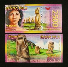 EASTER ISLAND 2500 RONGO POLYMER BANKNOTE 2011 UNC