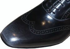 Paul Smith sauvage / gris formel chaussures en cuir NEUF Sz: UK 8,5