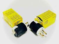 Hubbel HBL4770C Plug Twist-Lock Insulgrip 2 Pole, 3 Wire 15A, 277V LOT OF 2