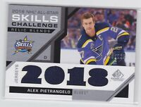 18/19 SP GAME USED...ALEX PIETRANGELO...ALL-STAR SKILLS...RELIC BLENDS.../125