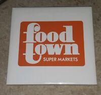 80s Food Town Supermarket Grocery Store Beverage drink tile coaster TOLEDO OHIO