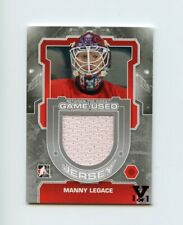 ITG FINAL VAULT 12/13 BETWEEN THE PIPES JERSEY MANNY LEGACE 1/1 RED WINGS *67551