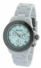 Elgin Ladies Watch EG7040W Silver Metal Bezel 40MM Chronograph