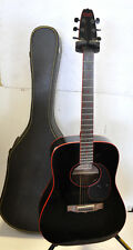 Vintage Late 80's Cort Aj881 Black edge Red stripe Acoustic Guitar Made In Korea