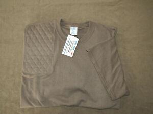 NEW! 2XLTALL Right Hand Trap/Skeet Pad CHESTNUT 50/50 Blend Shooting T-Shirt