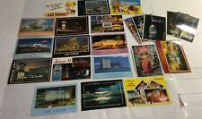Hotel & Casino Past Present Las Vegas Nevada Post Card Cards Lot of 22 Unposted