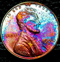 "1940 S Lincoln Wheat Penny Cent- ""Beautiful Toning"" SUPERB GEM HIGH GRADE #02"
