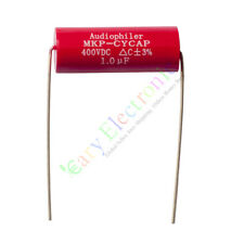 10pc MKP 400V 1uf Red long copper leads Axial Electrolytic Capacitor audio amp