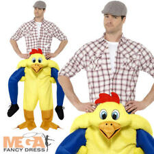 Piggyback Chicken Mens Ladies Fancy Dress Animal Ride On Novelty Adults Costume