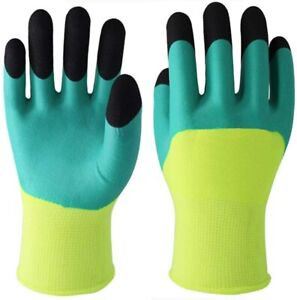3 Pairs Nitrile Coated Gardening Gloves Hypoallergenic Breathable Stretchable