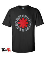 Red Hot Chili Peppers T-Shirt Funk Rock Music Band Classic LogoTee