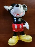 Vintage Walt Disney Ceramic Mickey Mouse Figure Statue 1960s toy hand painted