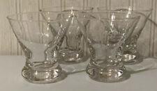 Set of 4 Grey Goose World's Best Tasting Vodka Stemless Footed Martini Glasses