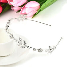 Retro Fashion Crystal Rhinestone Flower Hair Headband Head Piece Women Jewelry