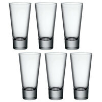 6x Bormioli Rocco Ypsilon Hi Ball Tumblers Drinking Glass Glasses Cups Water New