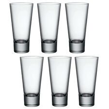 6x Bormioli Rocco Ypsilon Hi Ball Tumblers Drinking Glass Glasses Cups Water New