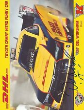 Del Worsham Signed Color 8X10 Photo Card Toyota Camry Nitro Funny Car Autograph