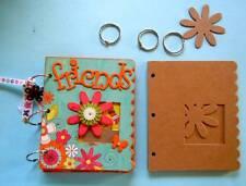 """Bare Chipboard 7"""" x 5 3/4"""" Scalloped Edge Flower Mini Album Scrapbook - 6 Pgs."""