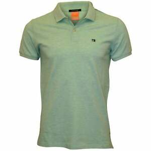 Scotch & Soda Premium Pique Men's Polo Shirt, Jade Melange