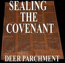 TORAH BIBLE VELLUM MANUSCRIPT SCROLL FRAGMENT 150 YRS YEMEN Exodus 20:19-24:8