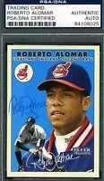 Roberto Alomar Psa Dna Coa Autograph 2000 Fleer Authentic Hand Signed
