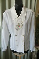 VINTAGE 80'S  ~ PETER METCHEV  ~ Military Style ~ BLOUSE/TOP * Size 12 * SALE !!