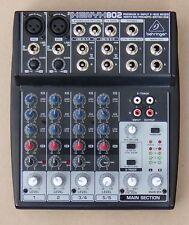 Behringer XENYX802 8-input 2-bus mixer