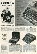 1942 ADVERT 6 PG Portable Typewriter Corona Remington Royal Deluxe Noiseless