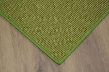 Sisal Teppich umkettelt grün 200x250cm 100% Sisal gekettelt