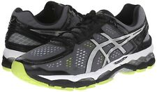 NEW ASICS Gel Kayano 22 Running Shoe Charcoal/Silver sz 8.5  $160