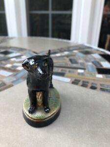 Scott Products Black Labrador Lab Dog Figural Metal Enamel Bottle Opener