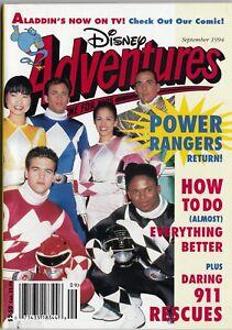 Disney Adventures Magazine September 1994 Power Rangers