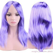Bright Colors Women Long Full Wig Straight Hair Cosplay Party Wigs Blonde Red el