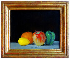 Robert Kulicke Original Still Life Painting Oil On Board Signed Frame Artwork