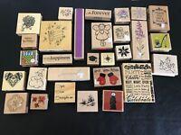 Asst. Lot 29 Rubber Stamp Wood Mount Scrapbooking Craft Stampabilities Anita's