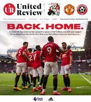 Manchester United v Sheffield United Premier League Programme 2020 Free UK Post