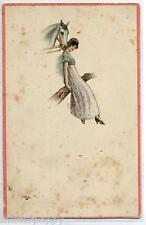 Donnina Elegante con Cavallo ART DECO Horse Lady PC Circa 1920