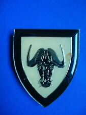 SOUTH AFRICA AFRICAN REGT. PORT NATAL MILITARY BREAST BADGE 60mm BUFALLO