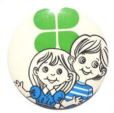 Vintage LITTLE BOY & GRIL Happy Modern BUTTON PIN Badge PINBACK