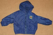 Boys SMALL STEPS Navy Blue WIND JACKET Size 2T Hooded BASKETBALL