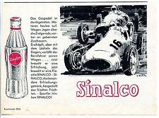 Sinalco--Das Gaspedal ist durchgetreten-Rennwagen-Werbung von 1960-