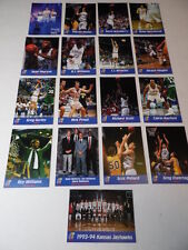 RARE VINTAGE COMPLETE SET 1993 1994 KANSAS JAYHAWKS NCAA BASKETBALL CARD SET KU