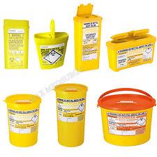 Sharps Bin, Needle waste Box, Insulin syringe, tattoo, travel, Medical Biohazard
