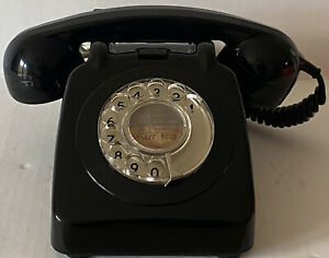 GPO/BT Black Rotary Dial 706F 70/2 Vintage Telephone - Tested and working VGC