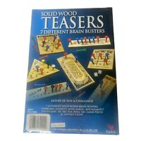 Cardinal Solid Wood Teasers Game 7 Different Brain Busters Game New Sealed Box