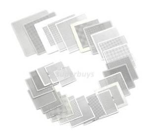 27pcs Reball Heat Rework PCB Soldering Solder Repair BGA Reballing Stencil Grid