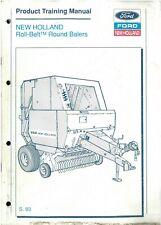 New Holland Round Baler 640 & 650 Product Training Manual - ORIGINAL
