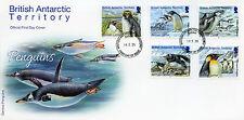 British Antarctic Territory BAT 2014 FDC Penguins 5v Set Birds Gentoo Emperor